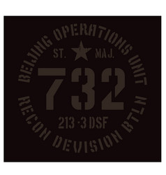 Beijing military plate design vector