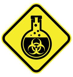 bio hazard warning sign vector image vector image