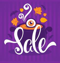 happy halloween sale banner flyer card template vector image vector image
