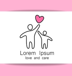 love care logo template vector image vector image