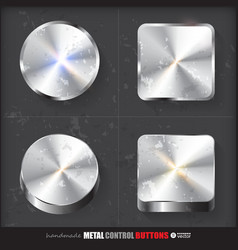 Set of two positions of Circle and Cube Metal vector image vector image