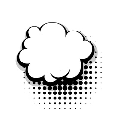 Template comic speech cloud bubble vector image vector image