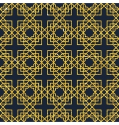 Arabic seamless geometric pattern on gold texture vector