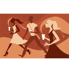 coffee people vector image vector image