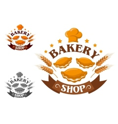 Creative bakery shop vector image vector image