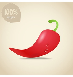 Cute fresh red hot pepper vector image