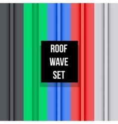 Metal roof seamless pattern set vector image