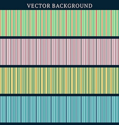 Set of Seamless Backgrounds Stripped Background in vector image vector image