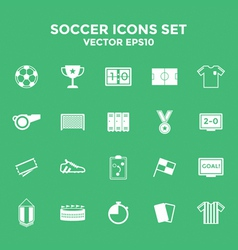 Soccer Icons set vector image