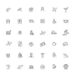 airport icon icon art vector image