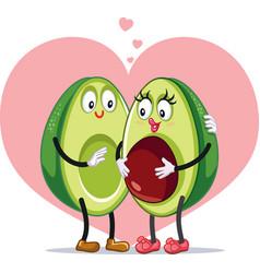 Avocado family pregnancy announcement funny vector