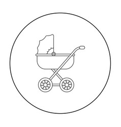 baby transport icon in outline style isolated on vector image
