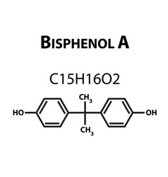 bisphenol a chemical formula infographics vector image
