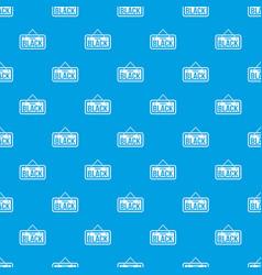 Black friday signboard pattern seamless blue vector