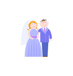 Bride and groom serenity colors vector