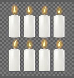 candles set white religion church prayer vector image