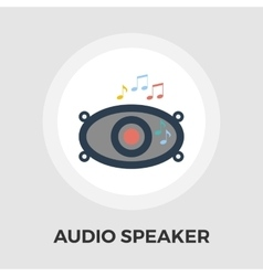 Car speakers flat icon vector