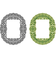 Celtic frame pattern vector image