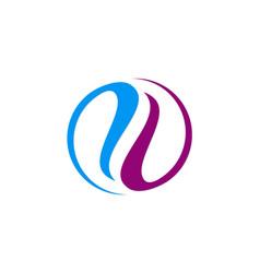 circle abstract balance colored logo vector image