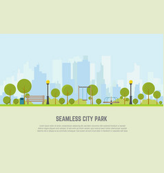 City park seamless background vector