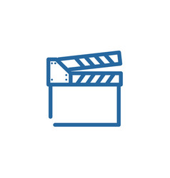 clapperboard line color icon vector image