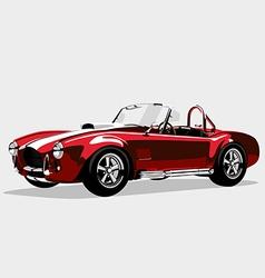 Classic sport red car ac shelcobra roadster vector