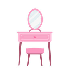 Dressing table in flat style vector