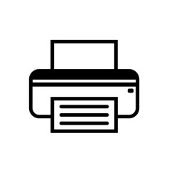fax icon in black and white vector image