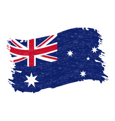 flag of australia grunge abstract brush stroke vector image