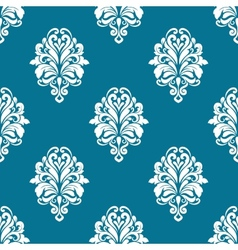 Floral seamless pattern with white elements vector