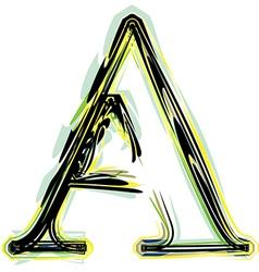 font letter A vector image