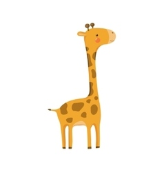 Giraffe Realistic Childish vector