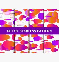gradient geometric shapes seamless patterns cover vector image