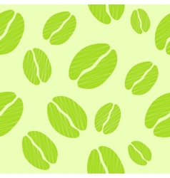 Green Coffee Seamless Pattern Background vector