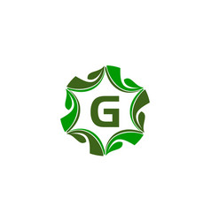 green project solution center initial g vector image