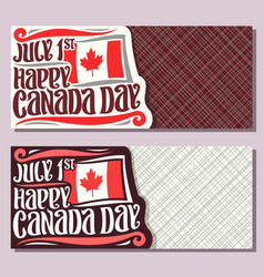 greeting cards for canada day vector image