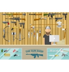 Gun shop vector