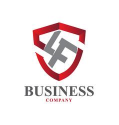 L f protect logo designs modern vector