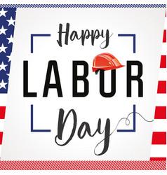labor day card usa vector image