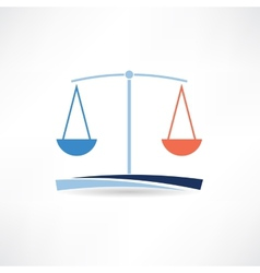 law abstract icon vector image