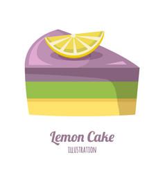 Lemon cake vector