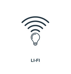 Li-fi icon premium style design from future vector
