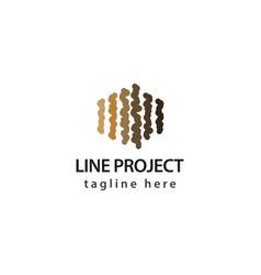 Line project logo template design vector