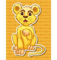 Lion cub vector image