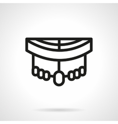 Longboard pars black simple line style icon vector