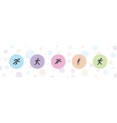 Marathon icons vector