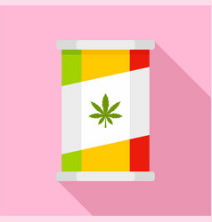 marijuana tin can icon flat style vector image