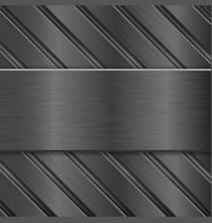 Metal background dark steel texture vector