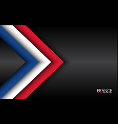 Modern overlayed arrows with french colors vector