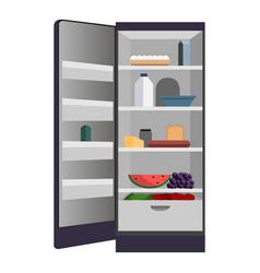 open home fridge icon cartoon style vector image